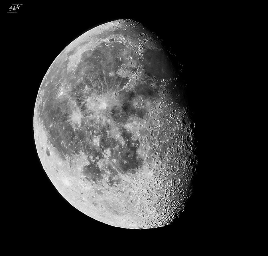 Der Himmel. Let's catch the moon, Dreiviertelmond abnehmend, Fangen wir mal den Mond ein, Danny Koerber, Sehnsucht der Augen, Mond, Himmel, Nacht