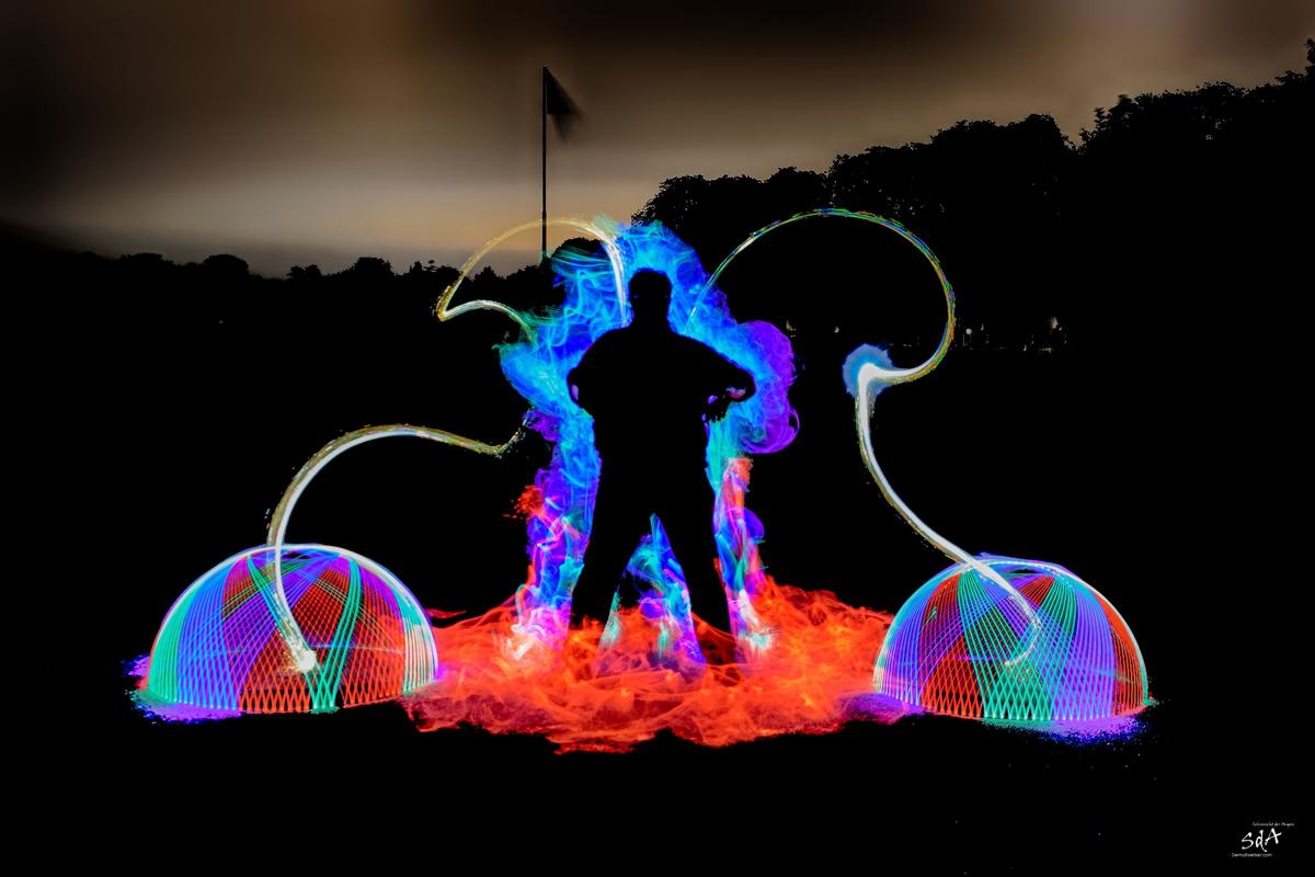 Lightpainting Danny erzeugt beim Lightpainting mit ZOLAQ. Lightpainting fotografiert von Danny Koerber für Sehnsucht der Augen.