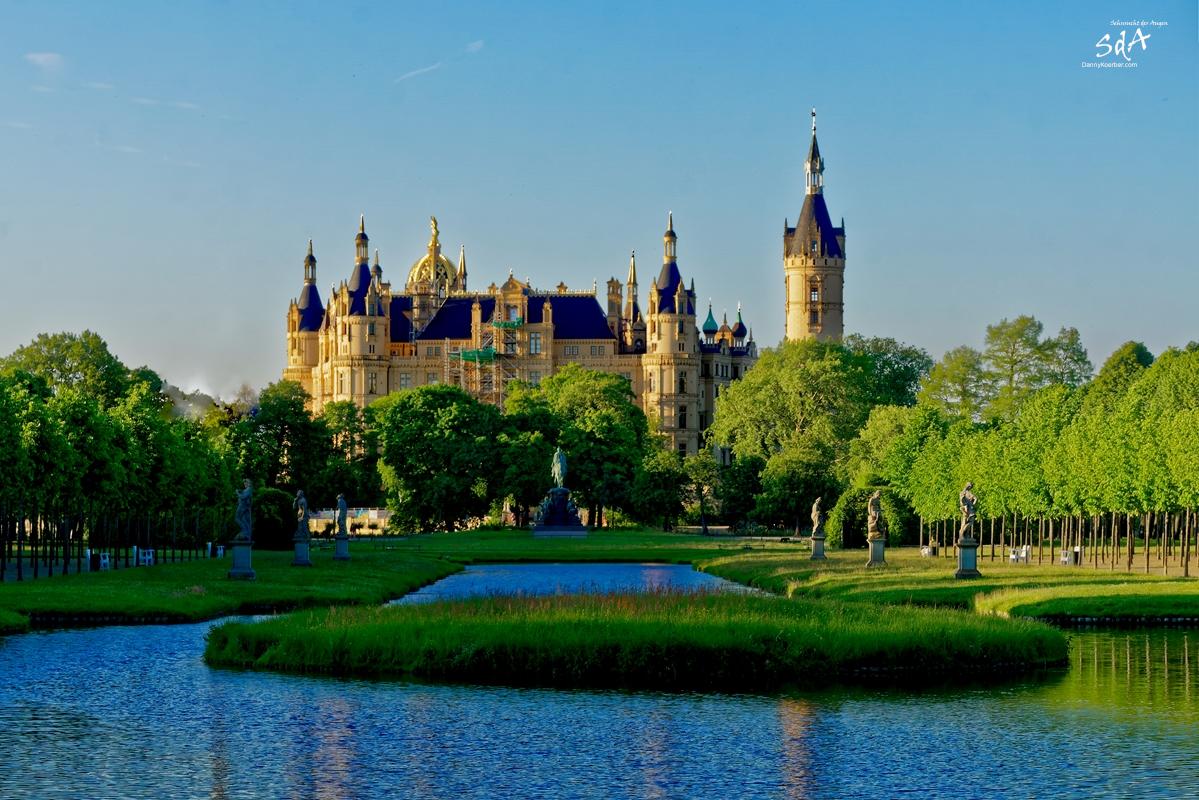 Schloss und Schlossgarten Schwerin, Schweriner Schloss, fotografiert von Danny Koerber für Sehnsucht der Augen.
