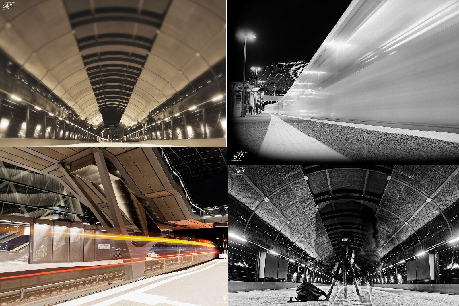 Ein Abend an der Bahn